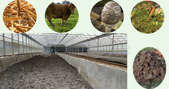 compost production of cattle manure fermentation