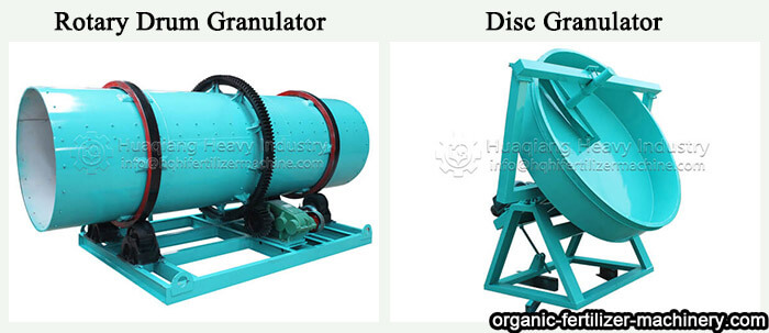 Similarities and differences between disc granulator and drum granulator Disc-and-drum-granulator