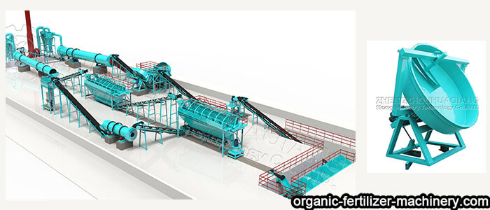 disc granulation NPK fertilizer production line