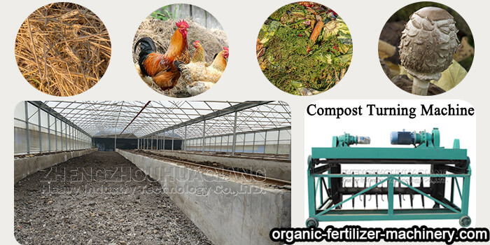 compost turning machine for organic fertilizer manufacturning