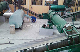 Installation of dryer, cooler, coating machine in fertilizer production line