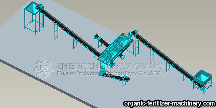Organic fertilizer vertical pulverizer and conveying machine make processing convenient