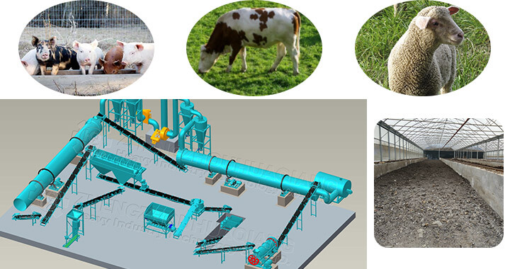 farm manure organic fertilizer machine
