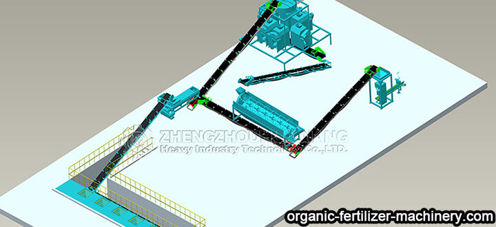 roller extrusion fertilizer production line