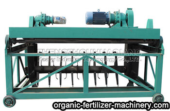 Trough compost turning machine