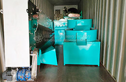 Roller granulator fertilizer making machine sold to Nigeria
