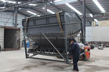 Loading site of organic fertilizer equipment export to Vietnam