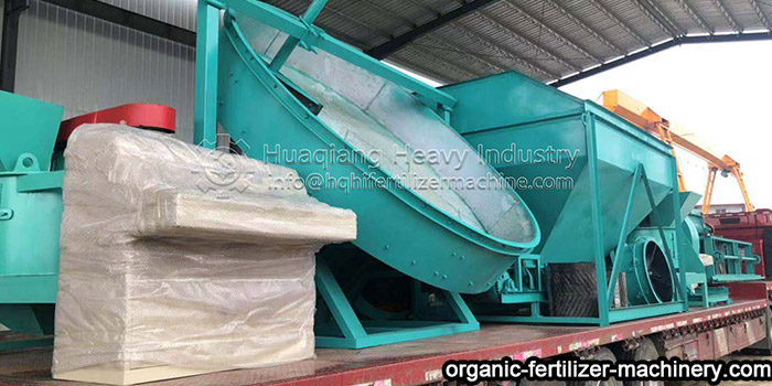 Delivery Site of Organic Fertilizer Granulation Production Equipment Delivery-organic-fertilizer-granulation-equipment