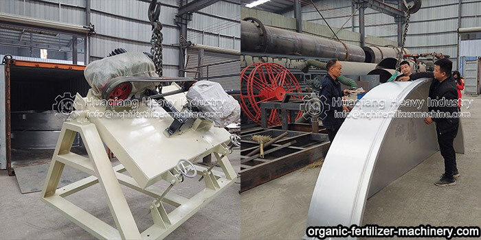 disc fertilizer granulator sent to Colombia