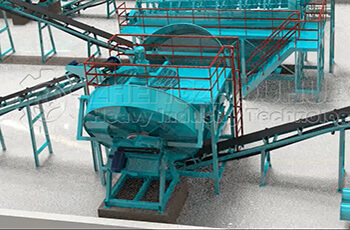 Organic Fertilizer Disc Granulator Production Line